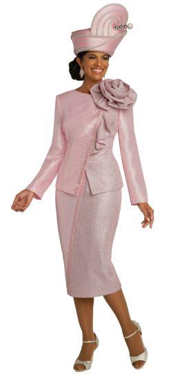 donnavinci, 5692, pink skirt suit