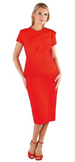 chancele, 9538, red daytime dress