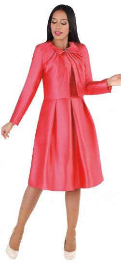 chancele, 9549, salmon jacket dress