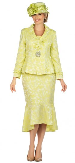 giovanna, 0936, lemon brocade church suit