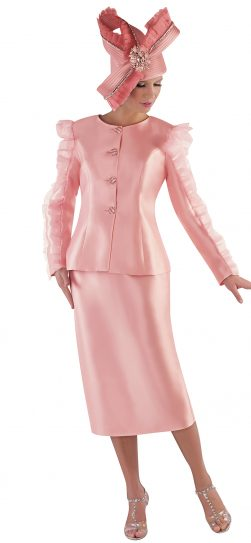 tally taylor, 4714, pink skirt suit