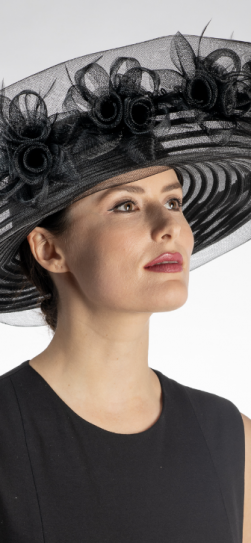 301909, dressy black hat