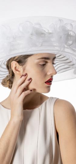 301909, dressy white spring hat