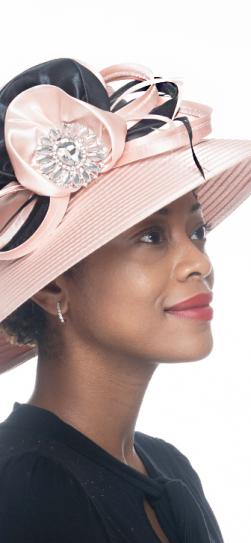 326558, peach-black church hat