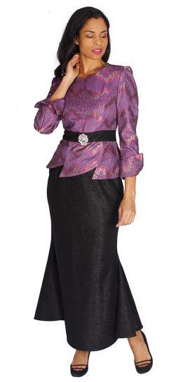 diana, 8538, purple skirt suit