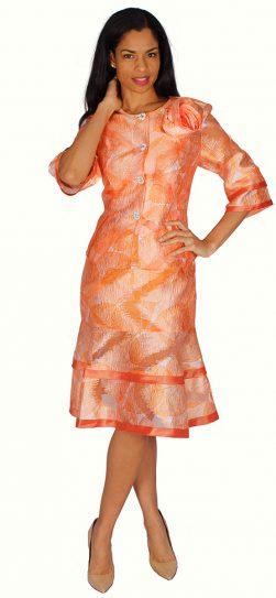 diana, 8598, orange skirt suit