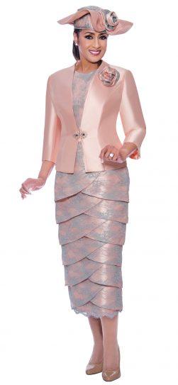 dorinda clark cole, pink skirt suit dcc9023