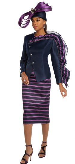 donnavinci, purple skirt suit, 11836