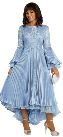 donnavinci, 11850, french blue dress