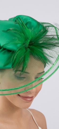 5629, green fascinator