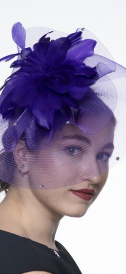 5725, purple fascinator