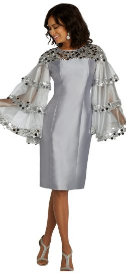 Donnavinci, 11822, silver dress