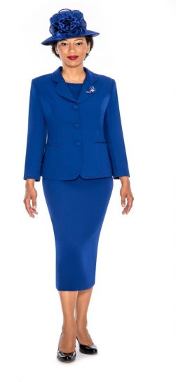 Giovanna,skirt suit,0824,royal blue