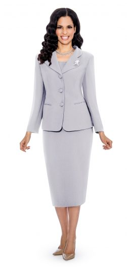 Giovanna,silver skirt suit,0824