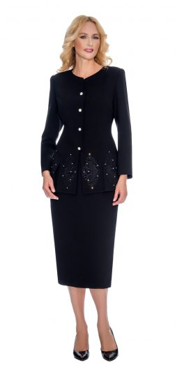 Giovanna, skirt suit, black skirt suit, 0920