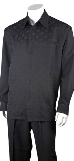 2762, black walking suit