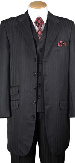 longstry 29198, black men's dress suit