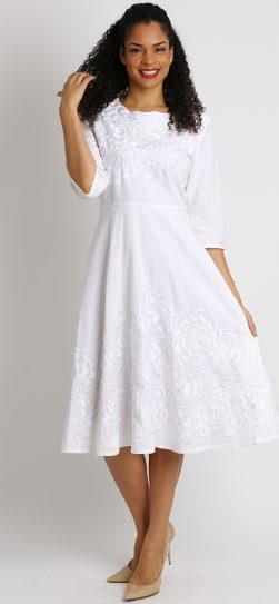 diana, 8219, white linen dress