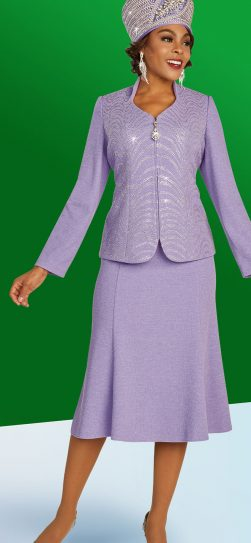 benmarc, 48304, lilac knit skirt suit