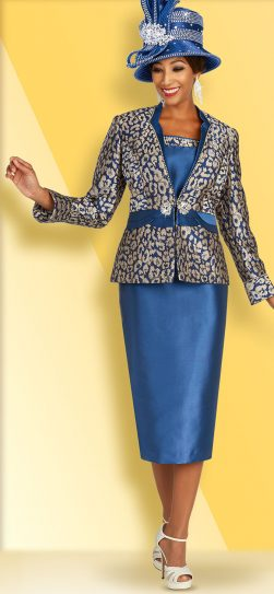 benmarc, 48364, blue skirt suit