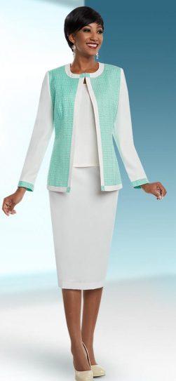 benmarc executive, style 11668, white-spearmint, size 12-34