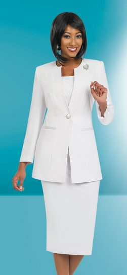 Benmarc skirt suit 78099 White