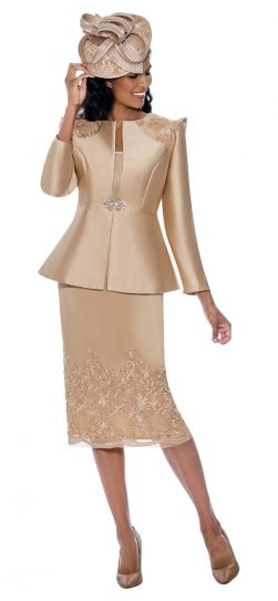 gmi, g8153, champagne skirt suit