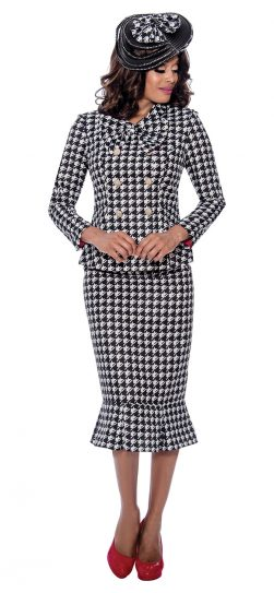 gmi, g8292, houndstooth skirt suit