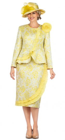 giovanna, 0938, yellow skirt suit