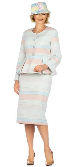 giovanna, g1141, pink multi skirt suit