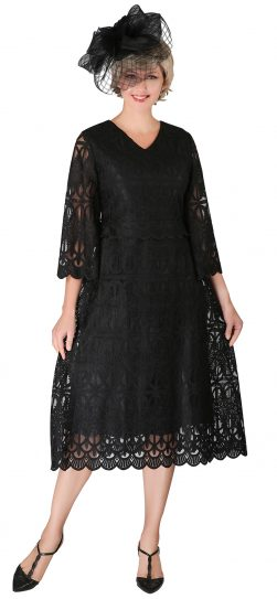 giovanna, d1520, black lace dress