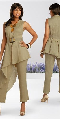 lisa renee, 3347, tan jumpsuit
