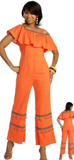 lisa rene, 3350, orange jumpsuit