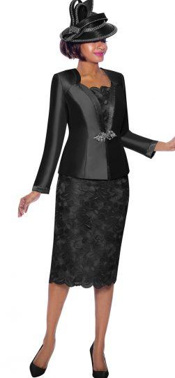 susanna, 3884, dressy black skirt suit