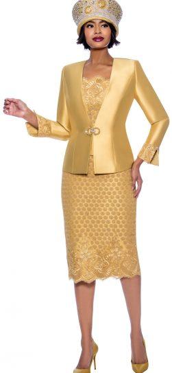 susanna, 3941, dressy gold skirt suit