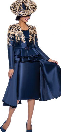 susanna, 3959, dressy navy skirt suit