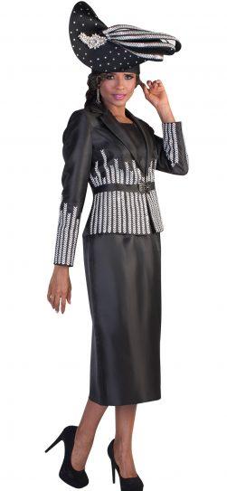 Tally Taylor, 4619, Black three piece suit