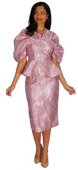 diana, 8573, mauve skirt suit