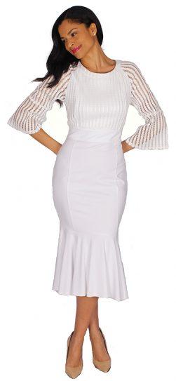 diana, 8581, white 1 piece dress