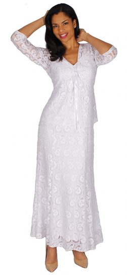 diana, 8587, white lace dress