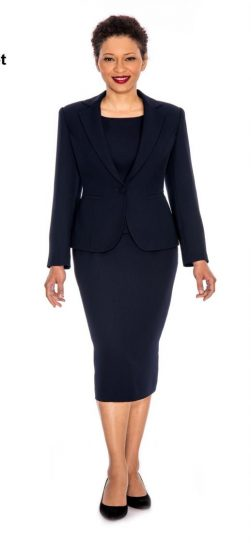 Giovanna,skirt suit, 0823, black skirt suit, black usher suit