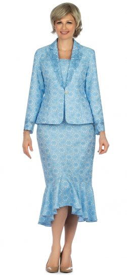 giovanna, 1143, blue church suit