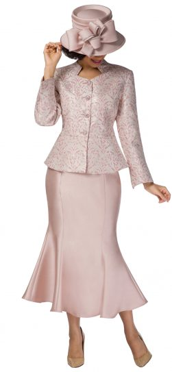 giovanna,g1116, pink-gold brocade skirt suit