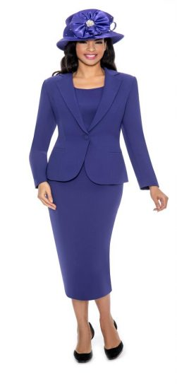 Giovanna, skirt suit,0824,purple usher suit,
