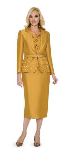 giovanna,skirt suit, gold skirt suit, mustard skirt suit, 1007