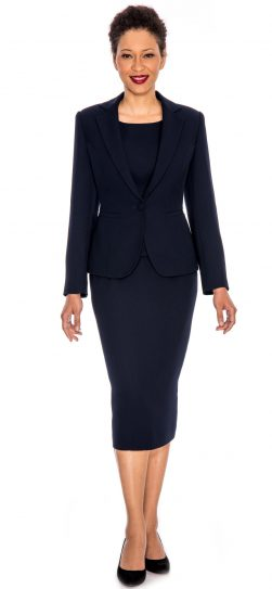 giovanna, 0823, navy usher suit, plus size navy skirt suit