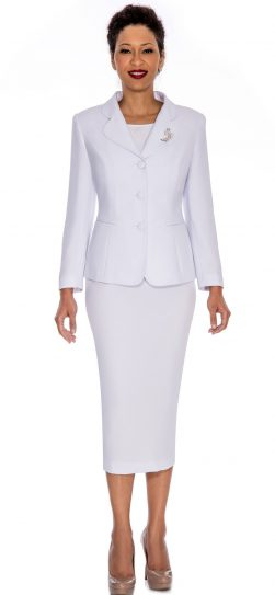 Giovanna,0824,white, skirt suit