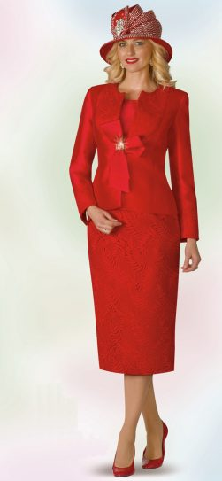 lily and Taylor, red skirt suit, 4165, sizes 4 to 24