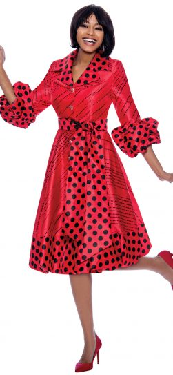 terramina, 7863, red polka dot dress