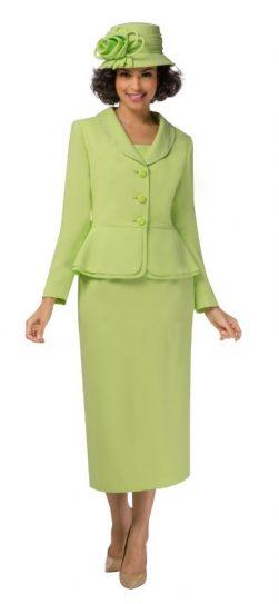 giovanna, lime skirt suit, 0709